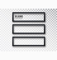 horizontal black frame mockup template isolated on vector image vector image