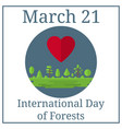 international day forests 21 march holiday vector image vector image