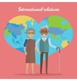 International Relations Travel in Old Age Concept vector image vector image