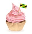 Jamaican Cupcake vector image vector image