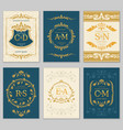 luxury vintage wedding invitation cards vector image