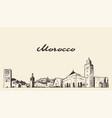 morocco skyline drawn a sketch vector image vector image