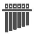 panpipe glyph icon musical and instrument vector image vector image