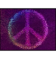 Peace Sign Multicolor abstract lights background vector image vector image
