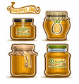 pineapple jam in glass jars vector image vector image