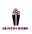 popcorn icon flat vector image vector image