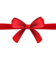 realistic red gift satin ribbon with a bow on vector image vector image