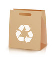 recycle shopping brown bag of vector image vector image