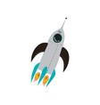 rocket launch cosmos theme design element cartoon vector image