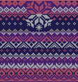 Scandinavian style seamless knitted pattern Colors vector image