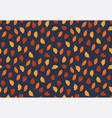 simple autumn pattern in orange colors on blue vector image vector image