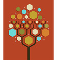 Social network business tree vector image vector image