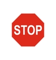 Stop sign icon in flat style vector image vector image