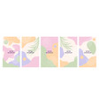 stories templates for social media vector image