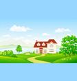 summer house at lake vector image vector image