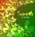 summer is coming vector image