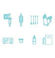 Tattoo Equipment Icon Set vector image vector image
