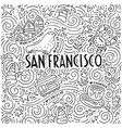 the symbols of san francisco in pattern vector image vector image