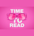 time to read concept vector image