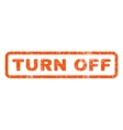 Turn Off Rubber Stamp vector image vector image