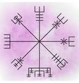 vegvisir - magic navigation compass vector image