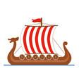 viking ship drakkar logo colored isolated on vector image