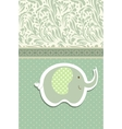 Vintage doodle elephant for frame wallpaper vector | Price: 1 Credit (USD $1)