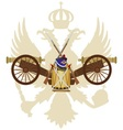 weapons imperial russia in 1812 vector image vector image