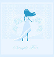 Wedding card with bride silhouette vector image vector image