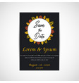 wedding save the date invitation card black vector image