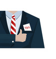 yes business concept with suit tie vector image