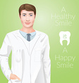 Young man stomathology doctor dentist in a medic vector image