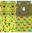 Set of four seamless patterns for Easter vector image