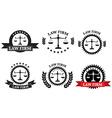 Law Firm logo set vector image