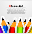 colorful pencil background vector image