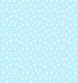 Hand drawn dots snow seamless pattern vector image