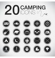 20 camp icons vector image