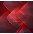 abstract red background with transparent glass vector image vector image