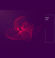 abstract wavy particle background made of vector image vector image