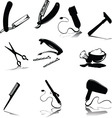 accessories for hygiene silhouettes vector image vector image