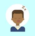 african american male sleeping emotion profile vector image