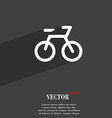 Bicycle icon symbol Flat modern web design with vector image vector image