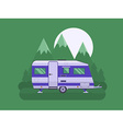 Camper Trailer on National Mountain Park Area vector image vector image