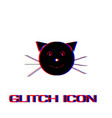 cat face icon flat vector image vector image
