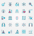 chemistry creative icons set chemical science vector image