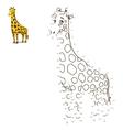 Connect the dots to draw animal vector image vector image