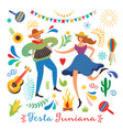 dansing man and woman carnival festival vector image vector image