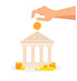 deposit banking system flat vector image vector image