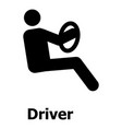 driver icon simple style vector image