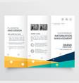 elegant tri fold brochure design in creative vector image vector image